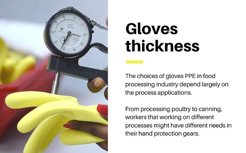 Gloves thickness