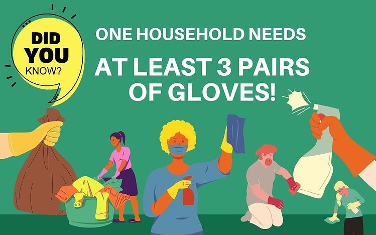 One household needs at least 3 pairs of gloves