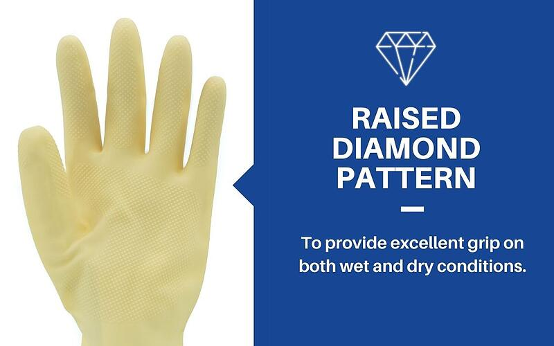 gloves raised diamond pattern