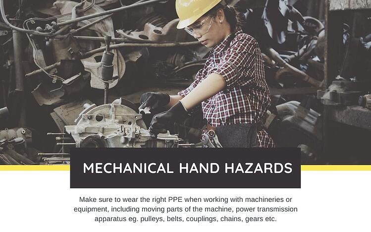 mechanical hand hazards